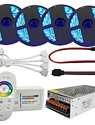 cheap -20m Light Sets 1200 LEDs 5050 SMD RGB Remote Control / RC / Cuttable / Dimmable 100-240 V