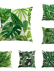 cheap -Set Of 6 Vintage Design Tropical Plant Printing Pillow Cover Creative Sofa Cushion Cover Cotton/Linen Pillow Case Home Decor