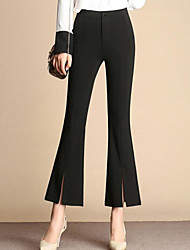 Women's High Waist Stretchy Skinny Pants Plus Size Casual/Daily Work Street chic Simple Loose Harem Pleated Solid Black