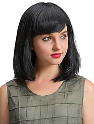 Elegant  Beautiful  Black  BoBo Human Hair Wigs  For  Women
