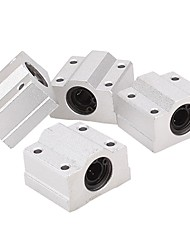 4pcs Linear Motion Ball Bearing  SCS8UU Slide Unit Bushing Linear Roller Bearing Slide Block