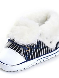 cheap -Baby Shoes Fabric Winter Fall Fashion Boots Crib Shoes First Walkers Comfort Flats Lace-up for Wedding Casual Outdoor Party & Evening