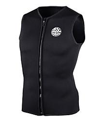 SLINX Unisex 3mm Wetsuit Top Thermal / Warm Nylon Neoprene LYCRA® Fleece Diving Suit Short Sleeves Vest/Gilet Tops-Swimming Diving Beach