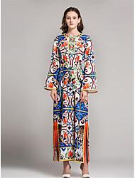 cheap -Women's Jalabiya Dress - Solid Colored Print