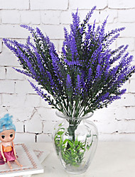 cheap -1 Branch Plastic Lavender Plants Tabletop Flower Artificial Flowers Home Furnishing Decoration Wedding Supplies