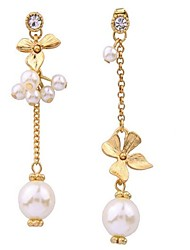 cheap -Women's Drop Earrings Imitation Pearl Love Sexy Fashion Personalized Mismatch Costume Jewelry Alloy Flower Jewelry For Party Other Casual