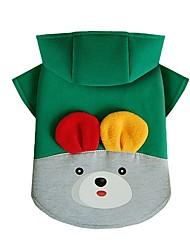 cheap -Dog Sweatshirt Dog Clothes Casual/Daily Rabbit/Bunny Yellow Red Green Costume For Pets