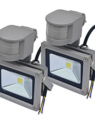 cheap -Jiawen 2pcs Waterproof 10W 1000LM Cool White or Warm White PIR Motion Sensor LED Flood Light Induction Lamp (AC85-265V)