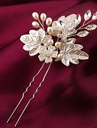 cheap -Imitation Pearl Plastic Alloy Flowers Hair Stick Hair Tool Headpiece