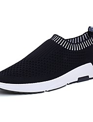 Недорогие -Для мужчин Спортивная обувь Удобная обувь Резина Весна Осень На плоской подошве Черный Темно-серый Светло-серый Красный Менее 2,5 см