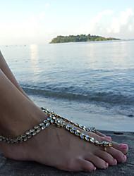 Women's Anklet/Bracelet Rhinestone Alloy Sexy Metallic Handmade Fashion Statement Jewelry Drop Jewelry For Daily Bikini Going out Club