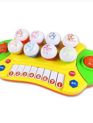Toy Instruments Toys Round Piano Musical Instruments Animal Plastics Hard plastic Pieces Kid Unisex Gift