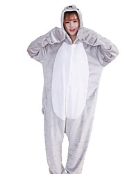 cheap -Kigurumi Pajamas Sea Lion Cartoon Onesie Pajamas Costume Flannel Fabric Silver Cosplay For Adults' Animal Sleepwear Cartoon Halloween