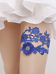 cheap -Elastic Wedding Garter with Flower(s) Wedding AccessoriesClassic Elegant Style