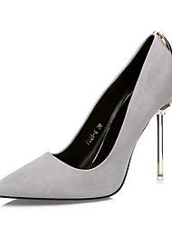 preiswerte -Damen Schuhe Wildleder Herbst Komfort High Heels Stöckelabsatz Spitze Zehe für Kleid Rot / Leicht Rosa / Khaki