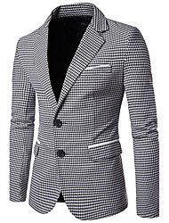 cheap -Men's Business Slim Blazer - Houndstooth