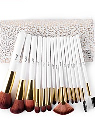cheap -MSQ 15 stcke Make-Up Pinsel Set Kunsthaar Make-Up Pinsel Schnheit Kosmetik Pinsel Set Mit Zarten Weien Muster PU fall