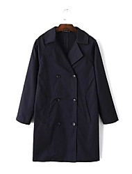cheap -Women's Sports Going out Daily Casual Street chic Winter Fall Trench Coat
