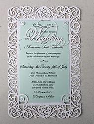 White Lace Wedding Invitation Cards - Set of 50
