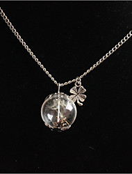 cheap -Women's Adorable Pendant Necklace  -  Fashion Round Four Leaf Clover White Necklace For Wedding Party Birthday