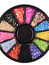 12 Color Circular Sequins Colorful Laser Sequins Nail Decorations