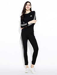 cheap -Women's Color Block Loose Leisure Fashion Sport Suits Hoodies , Casual Round Neck Long Sleeve