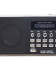 WLDSYJ Radio portatil Reproductor MP3 Tarjeta TFWorld ReceiverBlanco Negro Rojo Azul