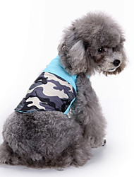 cheap -Dog Coat Sweatshirt Vest Dog Clothes Color Block Blue Cotton Costume For Pets Men's Women's Party Casual/Daily Fashion Sports