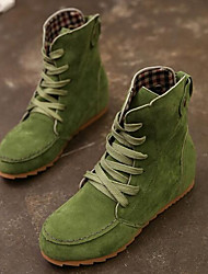 cheap -Women's Shoes Leather PU Winter Comfort Fashion Boots Boots for Casual Black Green