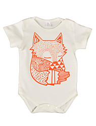 Baby Animal Print One-Pieces Cotton Summer Short Sleeve Fox Boys Newborn Jumpsuits for Infant Bodysuits