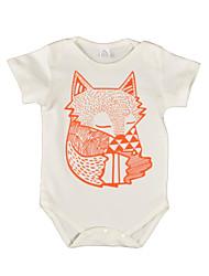 Une-Pièce bébé Imprimé Motif Animal Coton Eté Manches Courtes