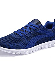 cheap -Men's Athletic Shoes Comfort Spring Fall Knit Athletic Casual Outdoor Lace-up Flat Heel Black Dark Blue Blue Flat
