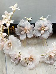 baratos -Tela de chiffon de tuleira de seda, flores, cabelo, clip, headpiece, elegante, estilo