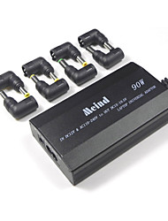 Universal Laptop Adapter 505S-90W 3 Holes Connecting Line with 8 Connectors Double Usage in Car and Home