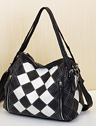 cheap -Women's Bags Cowhide Shoulder Bag Split Joint Plaid for Event/Party Casual Office & Career Outdoor All Seasons Rainbow