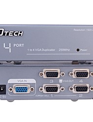 DTech VGA Splitter VGA to VGA Splitter Female - Female 1080P One Input Four Output
