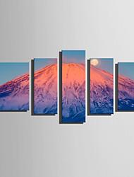 cheap -Canvas Print Five Panels Canvas Vertical Print Wall Decor Home Decoration