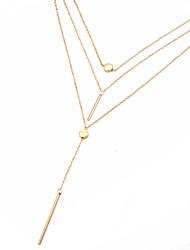 Per donna Girocolli Collane con ciondolo Collane Layered Multi-pietra Cristallo Ossidiana Di forma geometricaOriginale Pendente Classico