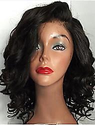 Недорогие -человеческие волосы Remy Необработанные натуральные волосы Бесклеевая сплошная кружевная основа Полностью ленточные Парик стиль Бразильские волосы Волнистый Парик 130% 150% 180% Плотность волос