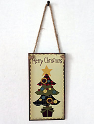 cheap -European and American wooden Christmas tree is listed for Christmas Eve Christmas tree wooden hanging board