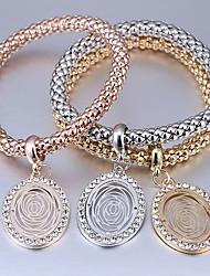 Women's Charm Bracelet Rhinestone Fashion Alloy Oval Jewelry For Casual