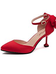 Women's Heels Spring Summer Light Soles Wedding Outdoor Party & Evening Dress Stiletto Heel Bowknot Walking Shoes