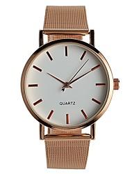 Недорогие -Жен. Модные часы Наручные часы Китайский Кварцевый / Нержавеющая сталь Группа На каждый день Elegant Розовое золото
