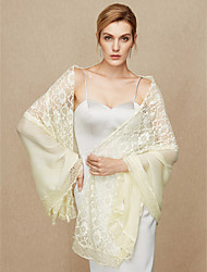cheap -Cotton Lace Wedding Party / Evening Women's Wrap With Lace Shawls
