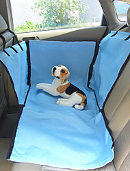 cheap -Cat Dog Car Seat Cover Pet Baskets Solid Blue Beige