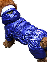 Hund Overall Hundekleidung Lässig/Alltäglich Herzen Grau Rot Blau