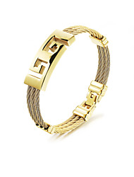 cheap -Men's Bracelet Bangles - Stainless Steel Rock, Gothic, Fashion Bracelet Gold For Party Birthday Party / Evening