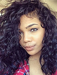 cheap -Water Wave With Baby Hair Glueless Lace Front Wigs Indian Human Hair Cheap On Sale For Black Women