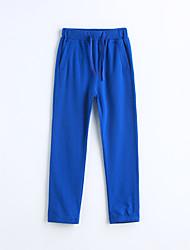 baratos -Para Meninos Calças Sólido Primavera Outono Algodão Azul
