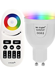 5W GU10 LED Smart Bulbs A60(A19) 12 leds SMD 5730 Infrared Sensor WIFI APP Control Light Control Dimmable Remote-Controlled RGB+Warm 500